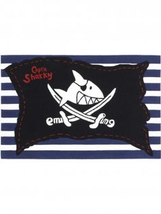 Tapis enfants Pirate Flag Bleu Plus
