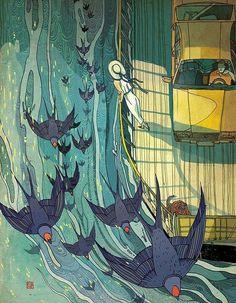 香港插画艺术家  倪传婧(Victo Ngai) 一组幻想插画设计 