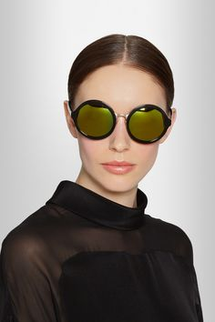 3.1 PHILLIP LIM Round-frame acetate mirrored sunglasses $250 http://www.net-a-porter.com/products/468437