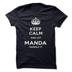 Keep Calm And Let MANDA Handle It-wkvkh - t shirt design #long sleeve shirt #make your own t shirts