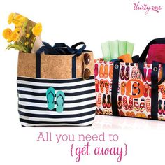 Thirty-One Gifts – All you need to get away! #ThirtyOneGifts #ThirtyOne #Monogramming #Organization #May2017Special #LargeUtilityTote #StandTallInsert