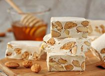 Homemade Torrone - the classic Italian nougat..