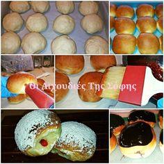 ΤΑ ΠΙΟ ΑΦΡΑΤΑ ΚΑΙ ΜΑΛΑΚΑ ΝΤΟΝΑΤΣ ΦΟΥΡΝΟΥ ΑΠΟ ΤΗΝ ΣΟΦΗ ΤΣΙΩΠΟΥ!!! Sweets Recipes, Desserts, Donuts, Bakery, Food And Drink, Bread, Cooking, Breakfast, Pancakes
