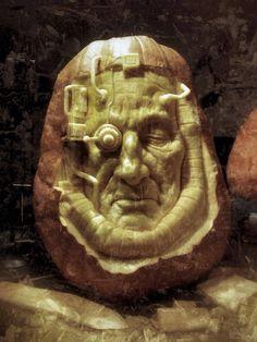 Steampunk Pumpkin Sculpture/Carving by Ray Villafane