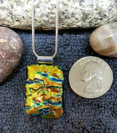 """Chasing Canaries"" Holistic Glass Pendant"