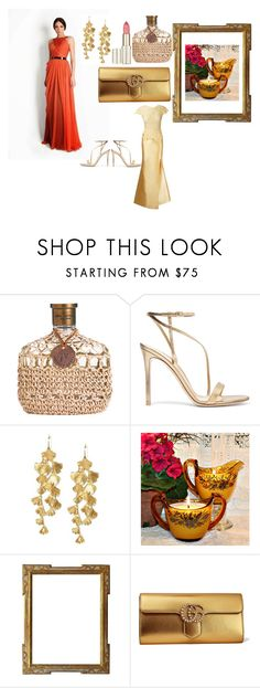 """""""Glamoroso Elegante"""" by chavezbane on Polyvore featuring Gianvito Rossi, Tory Burch, Gucci y Martha Medeiros"""