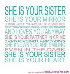 sister quotes | motivational inspirational love life quotes sayings poems poetry pic ...