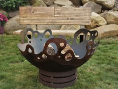 Riptide – A beautiful, warm fire creates the perfect space to share the many different directions life takes us. A timeless heirloom for your family … Fire Pit Art, Wood Fire Pit, Fire Pit Bowl, Rustic Fire Pits, Gas Fire Pit Table, Steel Fire Pit, Wood Burning Fire Pit, Fire Bowls, Outdoor Propane Fire Pit