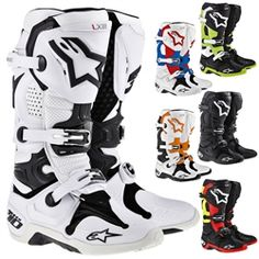 2014 Alpinestars Tech 10 Mx Off Road Dirt Bike ATV Quad Racing Motocross Boots