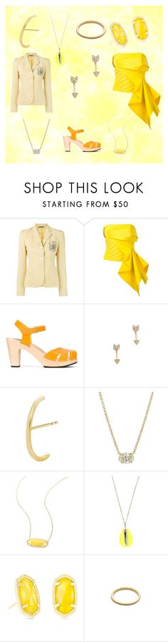 """Yellow Gold"" by justinallison ❤ liked on Polyvore featuring Ralph Lauren, Rubin Singer, Swedish Hasbeens, EF Collection, Ileana Makri and Kendra Scott"