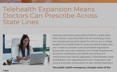 Telehealth Expansion Means Doctors Can Prescribe Across State Lines - CHADD Drug Enforcement Administration, Finding The Right Job, Adhd Medication, Communication System, Online Pharmacy, The Expanse, Doctors, Medical