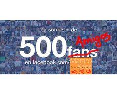 Hoy llegamos a los 500 amigos! Muchas gracias a tod@s!!!