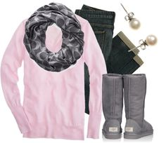 """Pink & Grey 2"" by qtpiekelso on Polyvore"