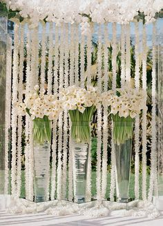 Chandeliers, trellises, fountains- you name it, and chances are it's being covered by flowers. Adding an undeniable wow factor, brides everywhere are incorporating new and interesting ways to use blooms into their Big Day.