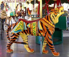 Carousel Tiger : The Herschell-Spillman carousel at Greenfield Village was built in 1913 by Maia C, via Flickr