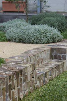 If you were looking for (modern garden design), take a look below Australian Garden Design, English Garden Design, Australian Native Garden, Modern Garden Design, Landscape Design, Garden Steps, Lawn And Garden, Recycled Brick, Brick Garden