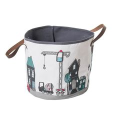 Sebra opbevaringskurv i stof - Village motiv til dreng - Tinga Tango Designbutik Toy Basket, Toddler Rooms, My Precious, Baby Furniture, Toy Boxes, Kidsroom, Toys For Boys, Storage Baskets, Room Decor