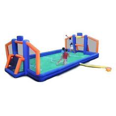 Sportspower 2-in-1 Ultimate Sports Arena Multi - Outdoor Games And Toys, Swing Sets/Bounce Houses at Academy Sports