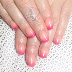 Nude to pink ombre