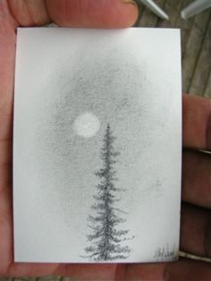 "I'm GIVING AWAY THIS DRAWING TODAY: ""pencil tree moon"" (http://www.nakedpastor.com/2012/09/21/freebie-friday-original-miniature-drawing/)"
