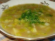Kapustová polévka s bramborami – Maminčiny recepty Soup, Ethnic Recipes, Anna, Essen, Soups, Chowder