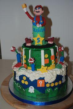 CakesbyKirsten.  Mario cake with all the little extra's. #mariobrotherscake.  #Mariocake