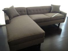 Slim Jim Sectional In Grey Faux Lizard Leather | HOME IS WHERE THE U003c3 IS. |  Pinterest | Lizards, Gray And Sectional Living Rooms