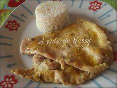 A vida de Nessy: Bifes de frango com molho de mel e mostarda by A v...
