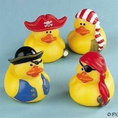 Pirate Rubber Ducks | boy baby shower decor or party favors