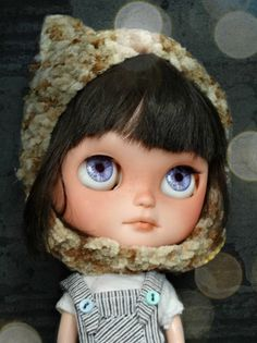 Custom Icy doll - Kiky - Blythe sister OOAK carving, eyes, face up