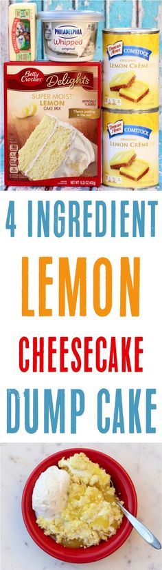 Ingredients) – Never Ending Journeys Easy Lemon Cheesecake Dump Cake Recipe! Ingredients) – Never Ending Journeys Easy Lemon Cheesecake, Easy Cheesecake Recipes, Homemade Cheesecake, Classic Cheesecake, Homemade Desserts, Poke Cakes, Cupcake Cakes, Dump Cakes, Layer Cakes