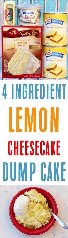 Ingredients) – Never Ending Journeys Easy Lemon Cheesecake Dump Cake Recipe! Ingredients) – Never Ending Journeys Dump Cake Recipes, Baking Recipes, Dessert Recipes, Dump Cakes, Poke Cakes, Easy Recipes, Lemon Recipes, Layer Cakes, Easy Lemon Cheesecake