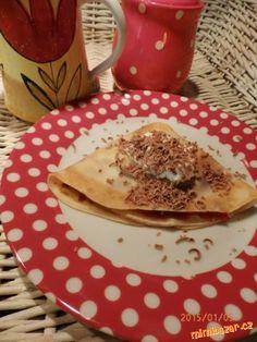 Tenké,výborné palačinky Czech Food, Czech Recipes, Pancakes, Breakfast, Breakfast Cafe, Pancake, Crepes