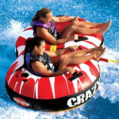 SportsSuff 53-1450 Crazy 8 Towable Double Rider Water Tube