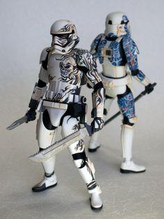 Star Wars Ships, Star Wars Clone Wars, Star Wars Art, The Trooper, Clone Trooper, Storm Troopers, Toy Art, Star Wars Commando, Samurai Artwork