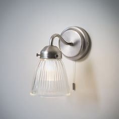 This stunningly chic, retro feel Pimlico bathroom wall light is an ideal solution for all types of bathroom lighting. Bathroom Spotlights, Bathroom Wall Light Fixtures, Glass Bathroom, Best Bathroom Lighting, Bathroom Mirror Lights, Attic Bathroom, Glass Wall Lights, Mirror With Lights, Ceiling Lights
