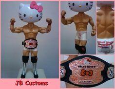 Sanrio Jakks Hello Kitty WWE Custom Figure Doll Toy Characters Plush iPhone 4GS