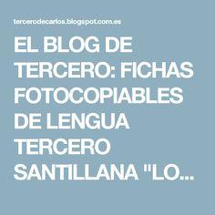 """EL BLOG DE TERCERO: FICHAS FOTOCOPIABLES DE LENGUA TERCERO SANTILLANA """"LOS CAMINOS DEL SABER"""""""