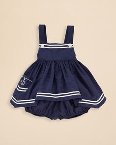 Ralph Lauren Childrenswear Infant Girls' Nautical Seersucker Tunic & Bloomer Set - Sizes 9-24 Months | Bloomingdale's