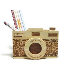 Porta+Lápis+Máquina+Fotográfica+-+Veio+na+mala
