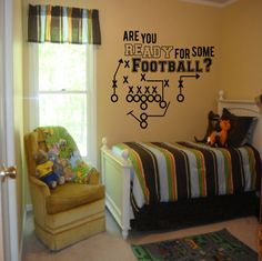 Are You Ready for Some Football decal - boys room decor, football decal, Football decor, football decals, football wall decals