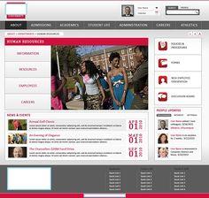 SharePoint Mockup for Internet Site for University