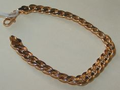 Textured Flat Link Gold Bracelet Unisex Free Shipping $12.00