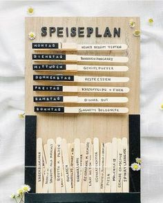 Weekly planner / meal plan / meal plan - plus 49 recipe ideas for the whole family . - Weekly planner / meal plan / meal plan – plus 49 recipe ideas for the whole family ‹fräulein flora PHOTOGRAPHY Week Planner, Dinner Planner, Food Planner, Family Planner, Planner Ideas, Diy Hacks, Getting Organized, Diy Gifts, Meal Planning