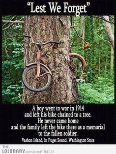 Tree Devours Bike/Lest We Forget