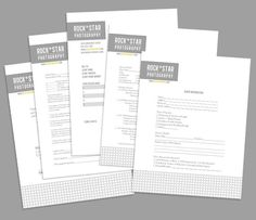 Photography Business Forms - 5 Critical Contracts and Order Form Templates - Electric Studio Collection