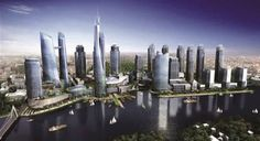Futuristic City, Futuristic Architecture, Apartment Projects, Green River, 1 An, Dream City, Fantasy World, Central Park, San Francisco Skyline
