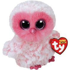 This Twiggy Beanie Boo Owl Plush is pink and made of soft polyester. Twiggy  the 862100b1c828