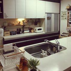 Kitchen/ダイソー/ニトリ/セリア/salut!/フェイクグリーン...などのインテリア実例 - 2017-11-19 10:54:04|RoomClip (ルームクリップ)
