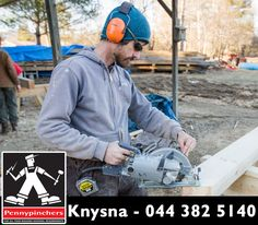 #Safety comes first when it comes to using power tools, make sure you are wearing proper safety gear. Head down to #PennypinchersKnysna for all your safety equiptment.